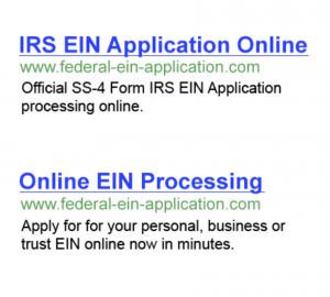 EIN Application